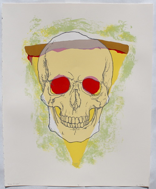 "seanfindley:  POISON PIZZA 201220""x10"" 6 color screen print PIZZA SERIES, PROJECT #2"