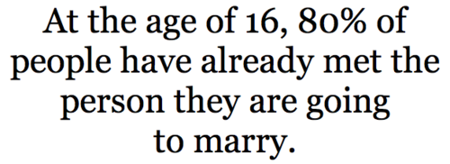 If this is even remotely true than I will marry a gay boy with a one syllable name or a girl who loves Ice Blendeds and Brittany Spears. SEXY TIME!  twiggish:  Lord I hope not…