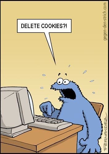 motherjones:  Cookie Monster No Want To Delete Cookies??! via Laughing Squid  Never gets old.