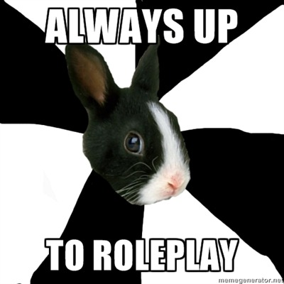 fyeahroleplayingrabbit:  Hey guys! I made this as a way for lonely rabbits to meet others. I figured if you'd like meet some new buddies, you can just reblog this so people will know you're currently seeking a partner! Maybe you can add some of your interests and contacts, that way if a curious rabbit comes along, they can get a hold of you? (: