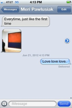 Love at first sight… it's possible with Rothko's No. 14 :) Thanks @maryckhayes for tweeting this.
