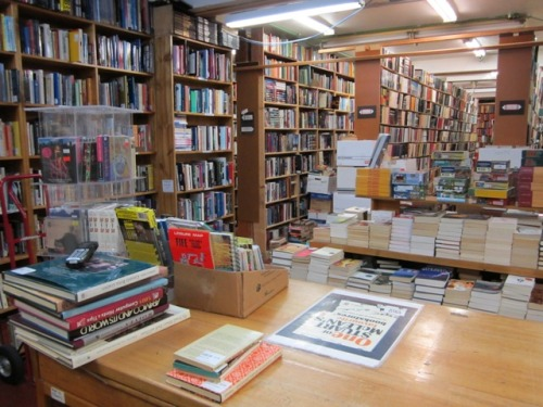 Books On View, our second location, from behind the counter. You can visit us at 702 View St, Victoria, BC, Canada, or browse all of Books On View's stock at our website.