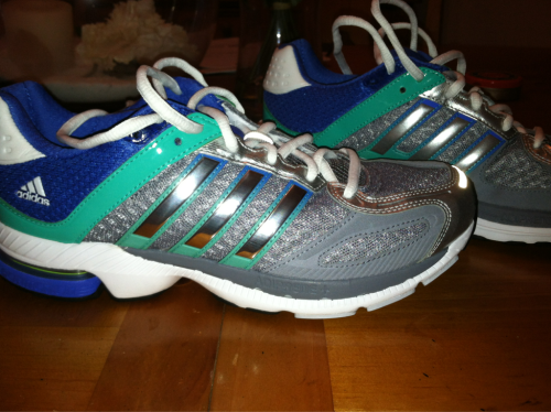 Feeling a bit skeptical about my new Adidas supernovas.  Adidas has never been my go to running brand but I'm definitely going to give them a fair two week trial!