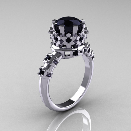gothaesthetic:  Til Death: Black Diamond and White Gold Traditional Armenian Wedding Ring by Artmasters. $1,249.00  Love this
