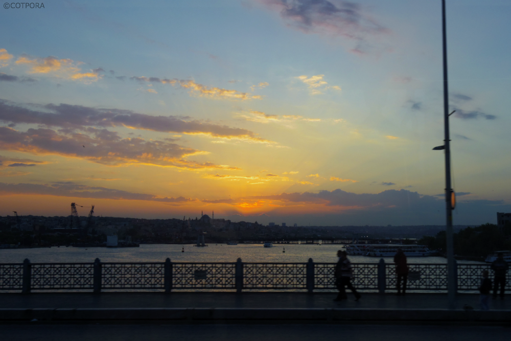 Sunset in Istanbul.Turkey.  Photo by COTPORA with Pentax Q + 01 STANDARD PRIME