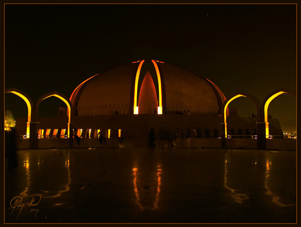 Pakistan Monument  In the heart of the capital city Islamabad, Pakistan Monument is a beautifully designed site that attracts thousands of tourists. Dedicated to the People of Pakistan, the four arches represent the provinces of Pakistan. Inside the petals or the arches lie the beautifully made Crescent and the Star of the Pakistan Flag. The small arches represent the Northern Areas and Kashmir.