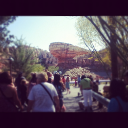 Cars land :D  At Disney California