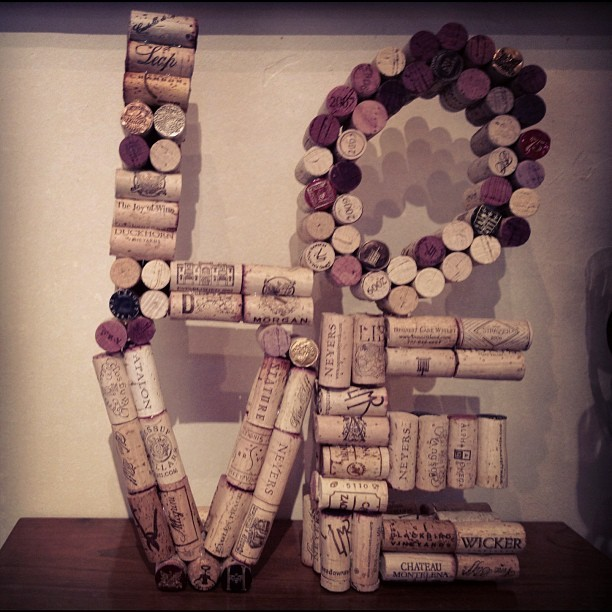LOVE made out of wine corks. Clever ❤ (Taken with Instagram)