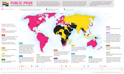 (via GOOD.is | Infographic: Pride Parades Around the World (Raw Image))