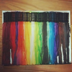 Some #crayonart or #oilpastelart i did. #rainbow #pastels #crayons #melting #crayonmelting #pastelmelting #art #artwork (Taken with Instagram)