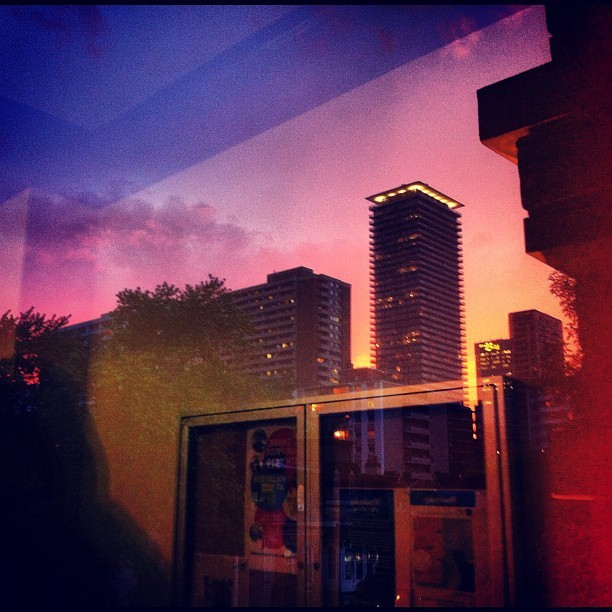 Sunset over Liberty Village Toronto (Taken with Instagram)