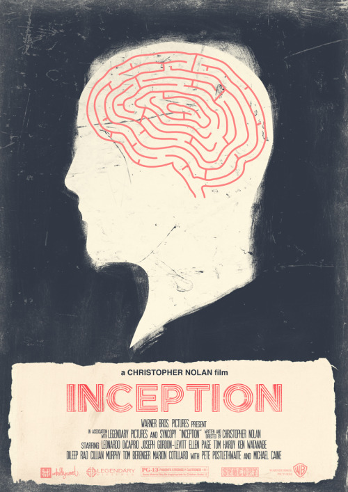 minimalmovieposters:  Inception by Joel Amat Güell