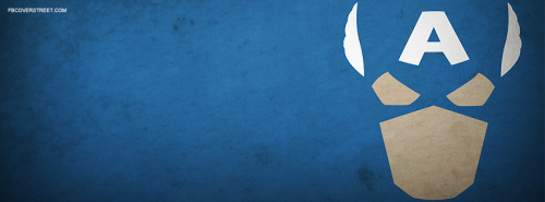 Captain America Face Facebook Cover