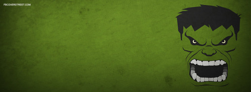 The Incredible Hulk Face Facebook Cover