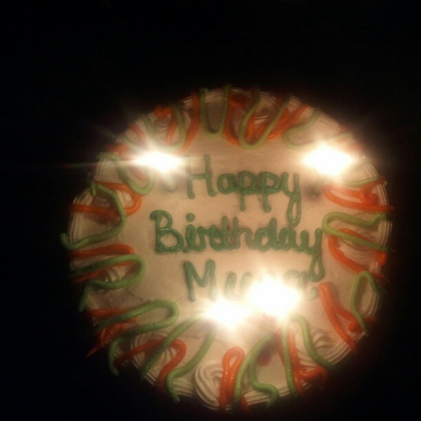 Nay nay bought me a late birthday cake<3 (Taken with Instagram)