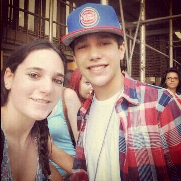 Me and Austin Mahone today! :)