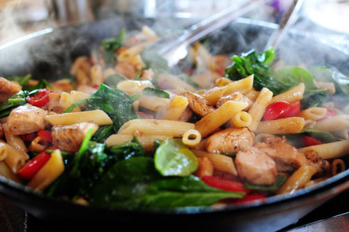 london-cafe:  Chicken Florentine Pasta