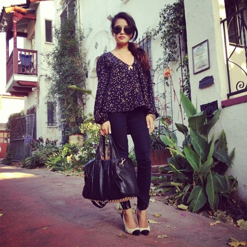 lusttforlifeblog:  #ootd: @Loversfriendsla top c/o @raissagerona #IsabelMarant heels and @hardcouture jewelry  (Taken with Instagram at Chango Coffee)