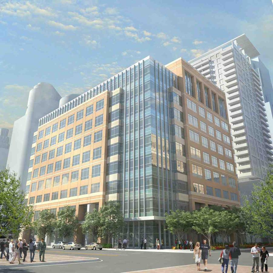 New face to grace Nicollet Mall  Plans for an expanded Xcel Energy Inc. headquarters campus in downtown Minneapolis may help a long-standing effort to revitalize a blighted expanse of north Nicollet Mall that stretches to the Mississippi River.  Minnetonka-based Opus Development Corp. released plans Tuesday to build a nine-story office building on the southeast corner of Nicollet Mall and 4th Street. Office space in the new building would be leased to Xcel Energy for roughly half of its 1,500 employees downtown, with the remaining workforce located in the energy company's headquarters across the street.  Construction is slated to begin in 2014, pending needed approvals, with occupancy expected in 2016.