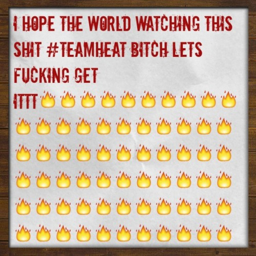 #HEATgram  (Taken with Instagram at #teamheat🔥🔥🔥🔥🔥🏀🏀🏀!)