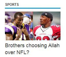 memonite:  Saw this picture on the front page of MSN. So sick Masha'Allah Abdullah Brother Putting NFL On Hold For Hajj   Masha'Allah! :']