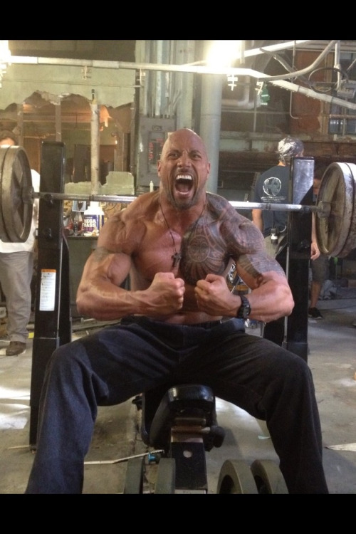 A man of few words but tons of screams lol. Dwayne Johnson aka The Rock
