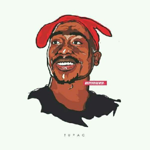 hypeforever:  Tupac #vector #ilustration desiged by me (Taken with Instagram)  Dope Work!
