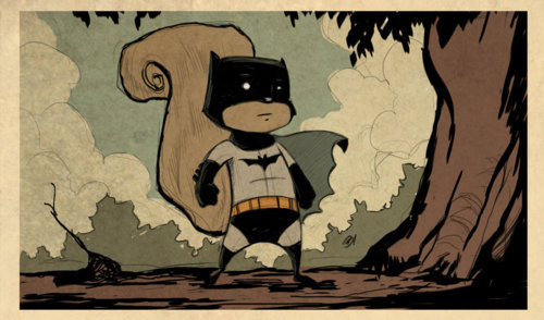 Bat-squirrel by Dave Bardin