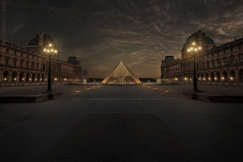 1wantchange:  Louvre - Paris, France by Glenn Karlsen 50 more to 1K