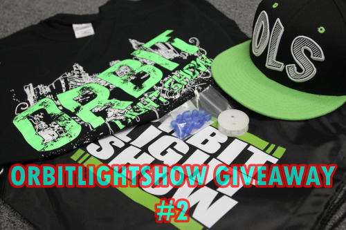 orbitlightshow:  It's time for a new GIVEAWAY! :) We decided to kick off summer with a new giveaway for our fellow followers! The prizes are what you see it the picture: 1 Orbit T-shirt, 1 OLS snapback hat, 1 Orbit totebag, 1 set of 10 new blue Jellie-O diffusers, and 1 6-light orbit adapter! Rules: *Reblogs only (Must keep original text content. Likes will not count.) *Must be following http://orbitlightshow.tumblr.com/  *The limit of reblogs per day is a maximum of 5 times. The contest will end July 2nd, 2012. We will send the winner a message, and they are given 24hrs to respond. Goodluck!