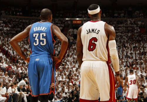 nba:  June 21, 2012 - NBA Finals Game 5: Oklahoma City Thunder at Miami Heat. (Photo by Issac Baldizon/NBAE via Getty Images)  Found with TumTum ♻