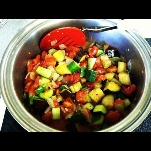 Ratatouille 😃😍👍👌✌#food #ratatouille  (Taken with Instagram)