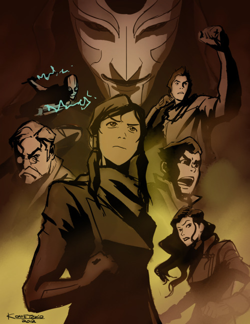 bryankonietzko:  Hello, everyone! I wish I had some time to draw something new for the blog, but I've been buried in all sorts of work. So in an effort to post something related to the Book 1 finale this Saturday, here is the rough concept for the press art I posted last week. It might be interesting to those of you who like to see this sort of process work. I have some more specifics on our San Diego Comic Con activities to share: WHAT:  The Legend of Korra Comic-Con PanelWHEN: Friday, July 13 from 11:15a – 12:15pWHERE: Ballroom 20WHO:  Co-creators and executive producers Michael Dante DiMartino and Bryan Konietzko, Joaquim Dos Santos (co-executive producer), Janet Varney (Korra), David Faustino (Mako), P.J. Byrne (Bolin), Seychelle Gabriel (Asami) and Andrea Romano (voice director).  The panel will include an in-depth discussion of Book 1 and a live performance by the voice actors.WHAT:  The Legend of Korra Comic-Con Signing WHEN: Friday, July 13 beginning at 2:30 p.m.WHERE: Nickelodeon booth  I've been told that Ballroom 20 holds 4300 people, so just get 4300 people to hold your places in the Game of Thrones line for Hall H, and pop over to Ballroom 20 for a spell. Among other things, Andrea is going to lead the actors in a live table read of some key scenes from Book 1. We've never done that sort of thing at a panel, so it should be really fun. ***Remember: The actors are not the characters, so be nice to David. He isn't Mako. He just plays one on TV. Which reminds me, I caught wind that there was a brutal war in the fandom this week. In lieu of me having time, let's all just pretend I drew a really funny comic about that and posted it just now. And we laughed. And it brought us joy. And the fandom hugged it out.  I am sooooo there. Now i'm glad I'm going to SDCC