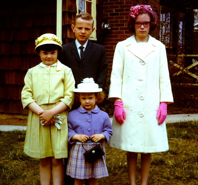1966 vintage 35MM slide photo Easter Outfits Staten Island New York by Christian Montone on Flickr.