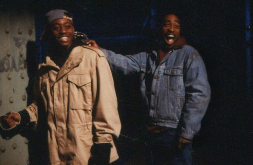 1991 behind the scenes of Juice with Omar Epps