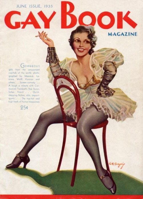 Gay Book Magazine, June, 1935E.K. Bergey Illustration Cover