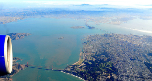 Birdeye View of Golden Gate Bridge and the City by Y. Peter Li Photography on Flickr.