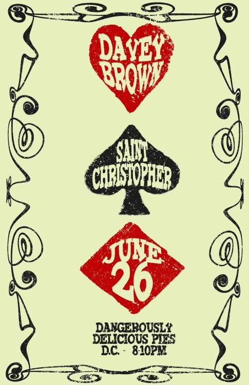 Eric rocked this poster!  Goddamn Davey Brown and Motherfuckin' Saint Christopher…
