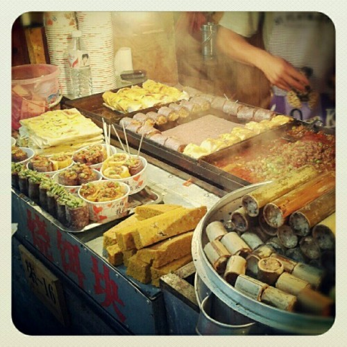 One of many street food stalls in Lijiang Old Town (Taken with Instagram)
