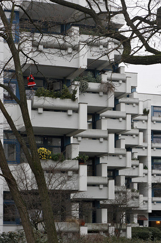 Wohngebäude (public housing), Berlin Zehlendorf by restmodern.de on Flickr.