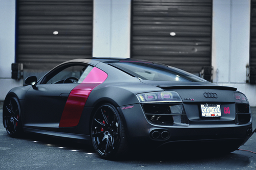 fuckyeahthebetterlife:  johnny-escobar:  Matte Black Audi R8 via Dylan  just because