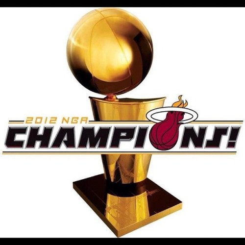 #nba #champs #june #summer #miami #florida #respect #real #whitehot #black #red #white #ballers #downtowm #sobe #onelove #teamwork #sixyears #hometown #fire #trophy #winners #realness #unstoppable #fuckyall #OKC  (Taken with Instagram)