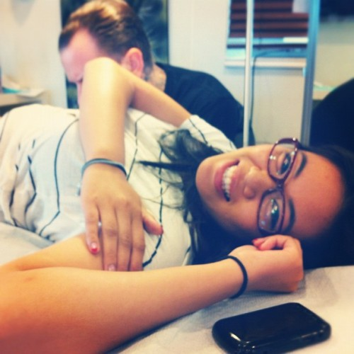 marieeeel:  Look at this champ, looking pretty even while getting inked (Taken with Instagram at Inflictions Tattoo)