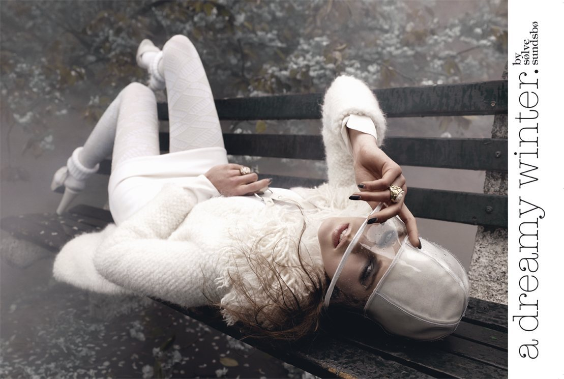 Magazine: Vogue Italia | Shoot: A Dreamy Winter | Model: Julia Saner | Photography: Sølve Sundsbø