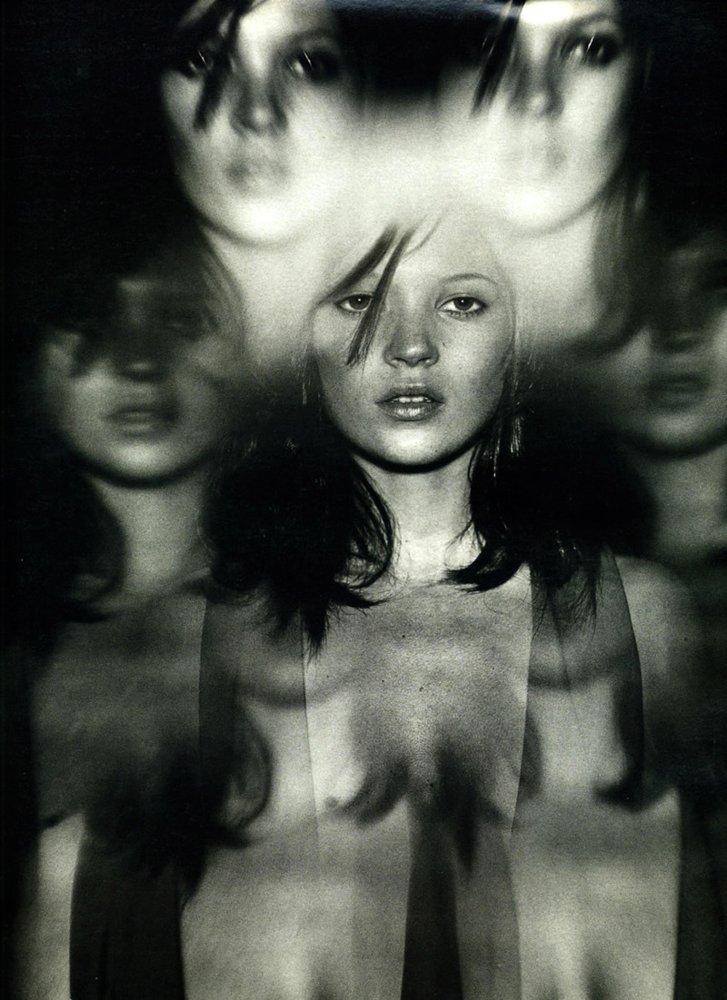 Kate Moss photographed by Nathaniel Goldberg for W Magazine, May 1997