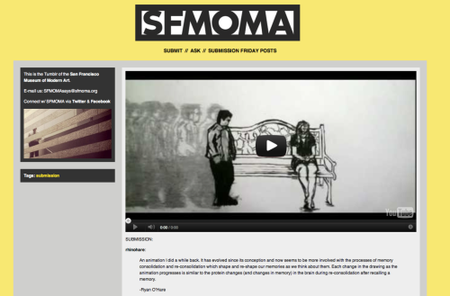 Wow! This is awesome! Thank you so much to SFMOMA for posting my submission!