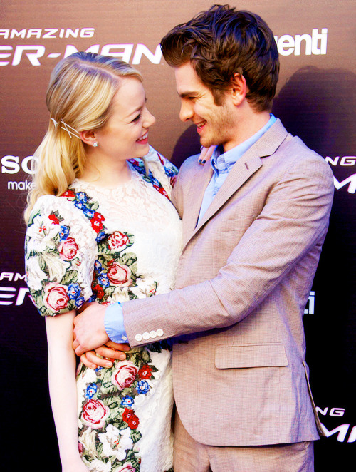 Emma & Andrew at the premiere of The Amazing Spider-Man - Madrid, June 21st