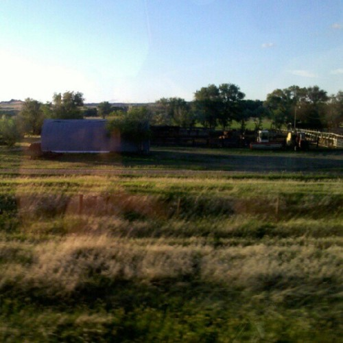 Ranching. #trainride #Montana #Badlands (Taken with Instagram)
