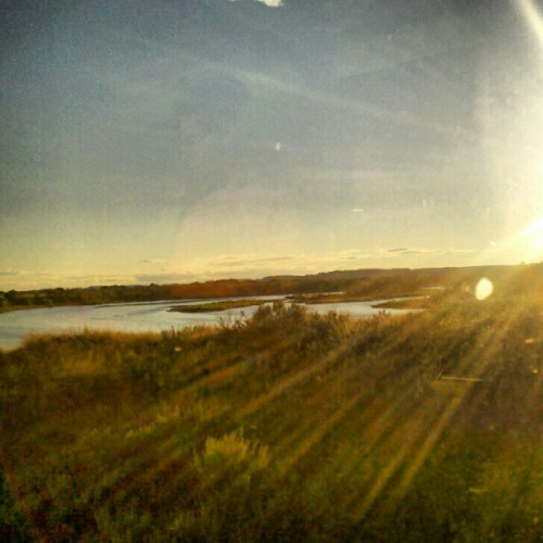 Yellowstone River #trainride #Montana #Badlands (Taken with Instagram)