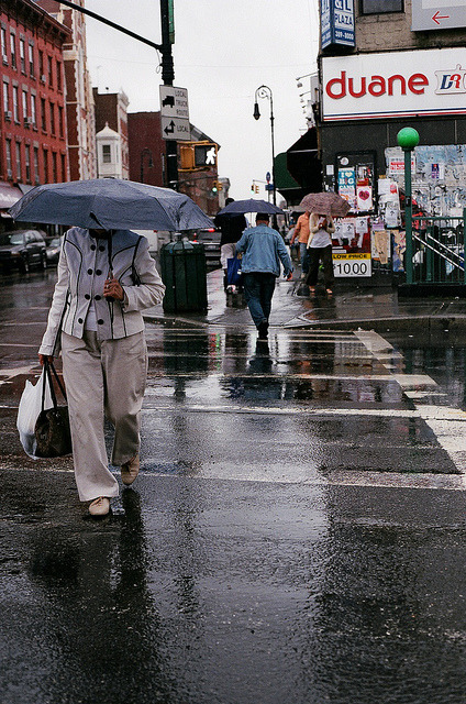 ——5 on Flickr. A rainy day on Greenpoint Avenue © Sharese Ann Frederick
